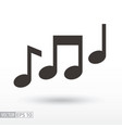 music notes flat icon sign music vector image