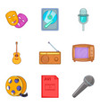 musical arrangement icons set cartoon style vector image vector image
