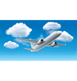 object airplane sky vector image vector image