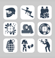 Paintball related icon set vector image vector image