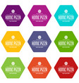 pizza delivery icons set 9 vector image vector image