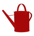 Red watering can vector image vector image