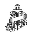 roses tattoo design vector image vector image