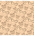 Seamless pattern with brown skulls and bones vector image vector image