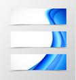 Set of header banner dynamic design vector image