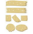 set of old stickers vector image