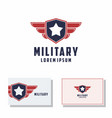 shield america wing logo military graphic vector image