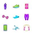 Slimming icons set cartoon style vector image vector image