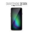 smartphone mockup design black modern vector image vector image