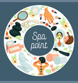 spa point commercial banner with skincare and vector image vector image