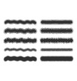 spray strokes set black airbrushes isolated on vector image
