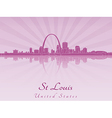 St Louis skyline in radiant orchid vector image vector image