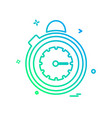 stopwatch icon design vector image vector image