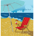 summer background with long chair vector image vector image