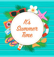 summer time background summer template vector image vector image