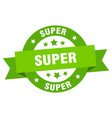 super ribbon super round green sign super vector image vector image
