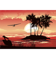 Tropical sunset vector | Price: 3 Credits (USD $3)