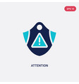 two color attention icon from gdpr concept vector image