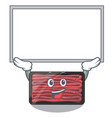 up board minced meat isolated in character vector image vector image