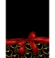 valentines day background with bow vector image vector image