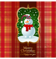 Vintage background with snowman vector image