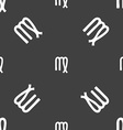 Virgo sign Seamless pattern on a gray background vector image