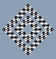 visual deception - modern optical illusion vector image