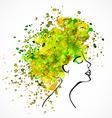 watercolor silhouette beautiful women vector image