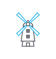 windmill linear icon concept windmill line vector image