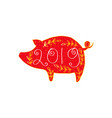 year of the pig chinese new year 2019 vector image vector image