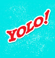 yolo grunge background vector image vector image