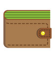 wallet flat icon business and finance purse sign vector image