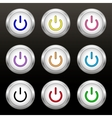 Coloured power buttons vector image