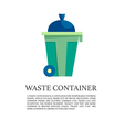 flat outdoor trash can concept vector image