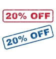 20 Percent Off Rubber Stamps vector image vector image