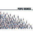 a group people are getting to business concept vector image vector image