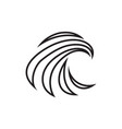 abstract swoosh lines shaped eagle head vector image vector image