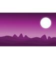 art of space desert landscape vector image vector image