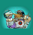 astronaut mutant thirst for beer vector image vector image