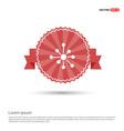 atom physics symbol - red ribbon banner vector image