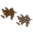 azerbaijan - map of coffee bean vector image vector image
