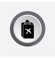 Baggage icon Luggage for traveling Info symbol vector image vector image