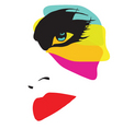 beautiful woman with eccentric makeup vector image vector image