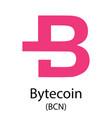 bytecoin cryptocurrency symbol vector image vector image