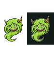 cartoon female troll monster character with horns vector image vector image