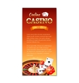 Casino background vertical banner flyer vector image vector image