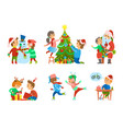 christmas holidays children hobbies and pastime vector image vector image