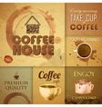 Collection of vintage Coffee Design Elements vector image vector image