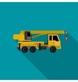 Crane flat icon vector image vector image
