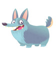 cute cartoon drawing of corgi dog vector image vector image